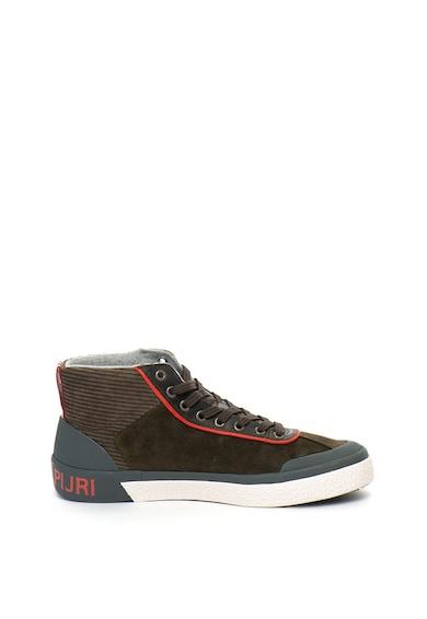 Napapijri Jabok nyersbőr sneakers cipő kordbársony szegélyekkel férfi