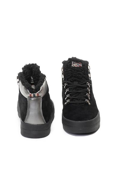 Napapijri Dahlia nyersbőr és bőr sneakers cipő meleg béléssel női