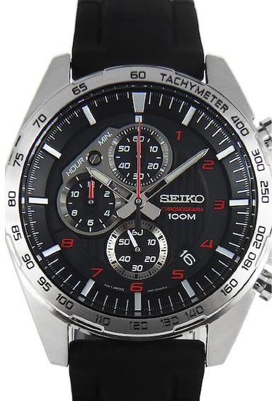 Seiko Ceas cronograf cu o curea de silicon Barbati
