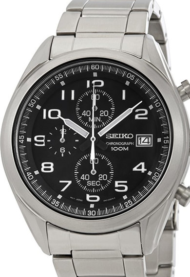 Seiko Часовник с хронометър, от неръждаема стомана Мъже