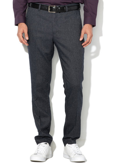 Selected Homme Pantaloni eleganti slim fit din amestec de lana Phantom Barbati