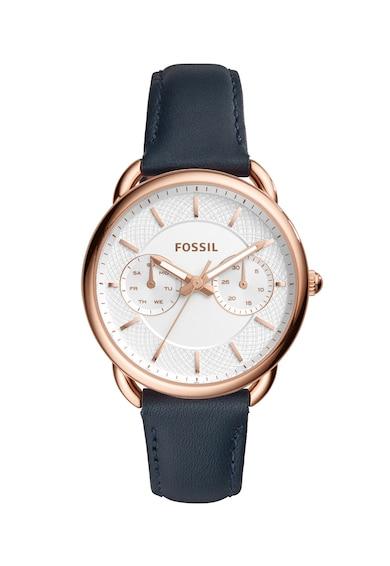 Fossil Мултифункционален часовник Tailor с кожена каишка Жени