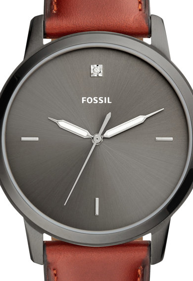 Fossil Часовник The Minimalist с кожена каишка Мъже