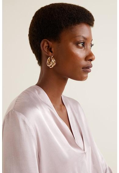 Mango Bluza de satin cu design innodat Drap Femei