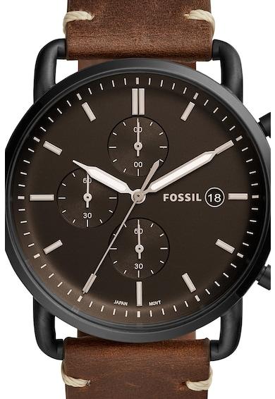 Fossil Часовник Commuter с хронометър с кожена каишка Мъже