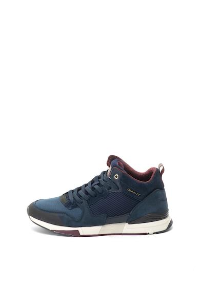 Gant Pantofi sport mid-high de piele nabuc si material textil Andrew Barbati