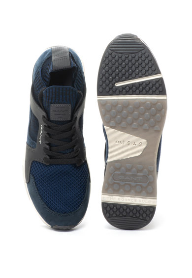 Gant Pantofi sport de piele nabuc si material textil, fara inchidere Andrew Barbati