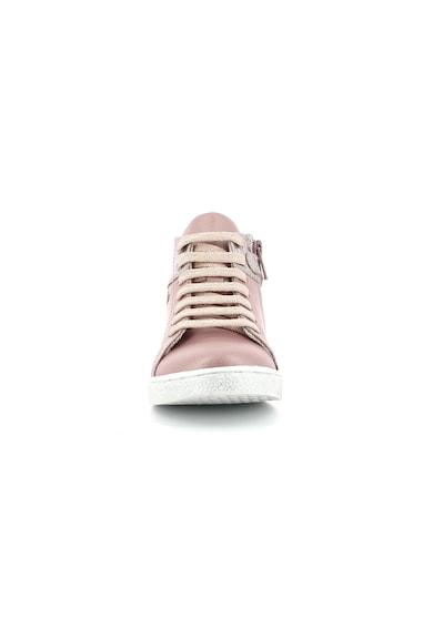 Mod8 kids Pantofi sport mid-high de piele cu accente metalizate Fete