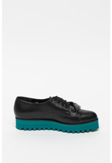Mihaela Glavan Pantofi din piele cu talpa flatform Femei