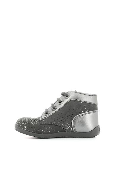 Kickers kids Спортни обувки от набук с метализирани детайли Момичета