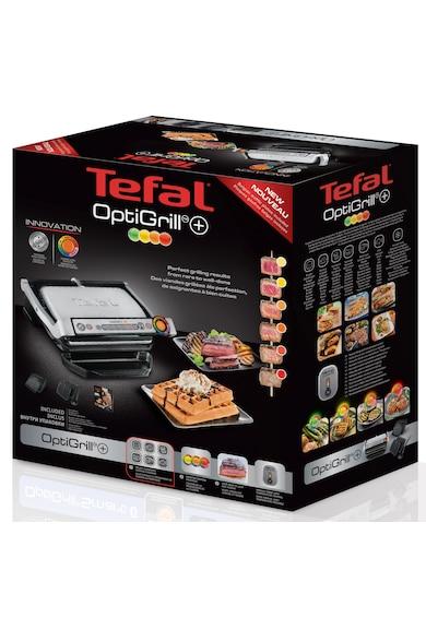Tefal Gratar electric  Optigrill+ Wafles , 2000 W, 6 programe, Indicator pentru nivelul de gatire, Placi detasabile, Accesoriu pentru gofre, Negru/Argintiu Femei