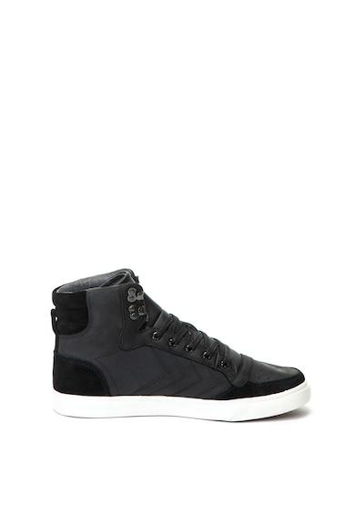 Hummel Pantofi sport high-top, de piele nabuc si piele intoarsa, de iarna Stadil Barbati