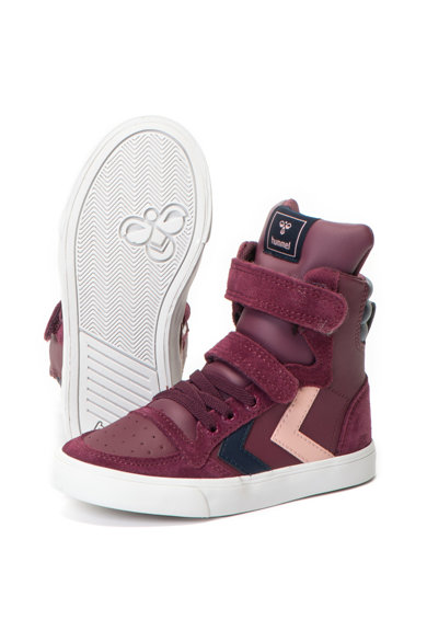 Hummel Slimmer Stadil magas sneakers cipő nyersbőr betétekkel Lány