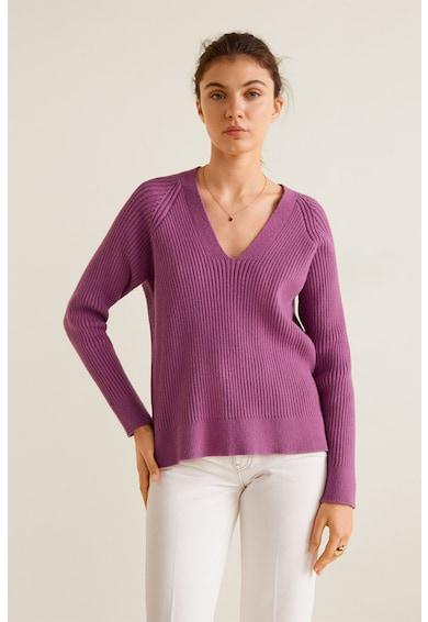 Mango Пуловер Orion с асиметричен подгъв Жени