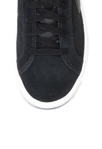Nike Pantofi sport din piele intoarsa cu logo pe partile laterale Court Royale Femei