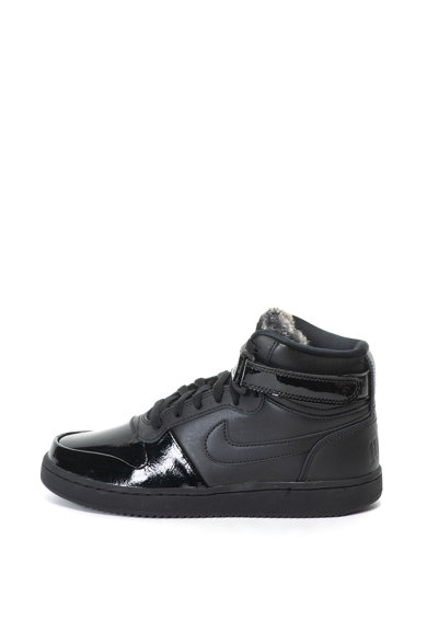 Nike Ebernon középmagas bőr és műbőr sneakers cipő műszőrme szegéllyel női