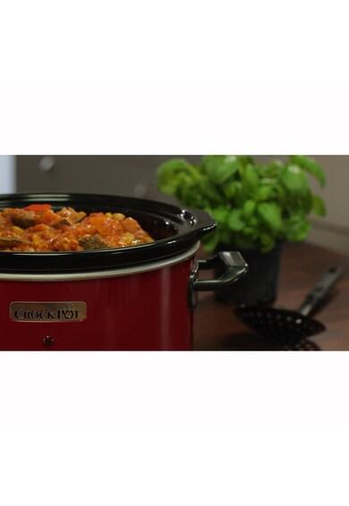 Crock-Pot Slow cooker  , 3.5 l, 2 Setari gatit, Functie pastrare la cald, Vas de ceramica detasabil, Rosu Femei