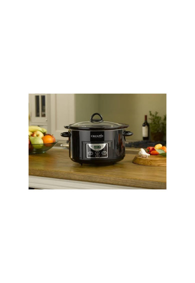 Crock-Pot Slow cooker  , 4.7 l, 2 Setari gatit, Vas de ceramica detasabil, Negru Femei