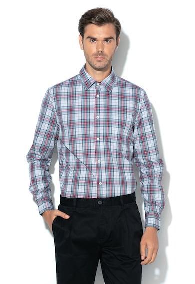 United Colors of Benetton Regular fit kockás ing zsebbel a mellrészen férfi