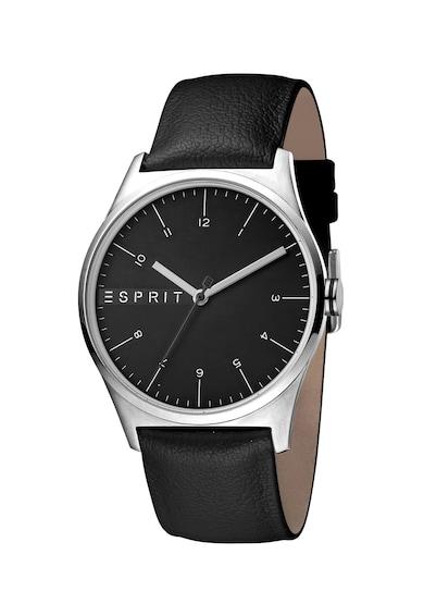 Esprit Ceas quartz cu o curea de piele Essential Barbati