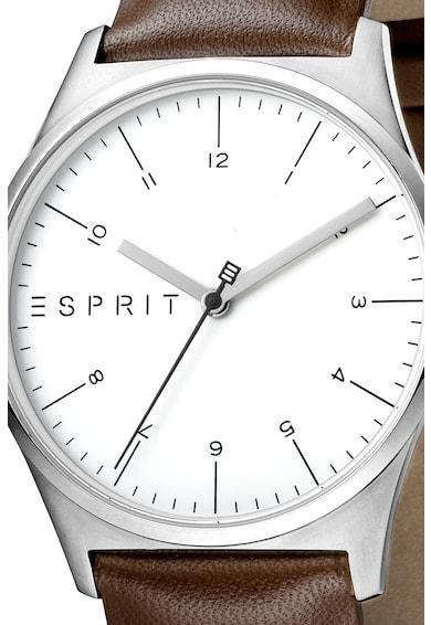 Esprit Часовник Essential с кожена каишка Мъже