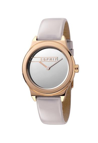 Esprit Часовник Magnolia с кожена каишка Жени