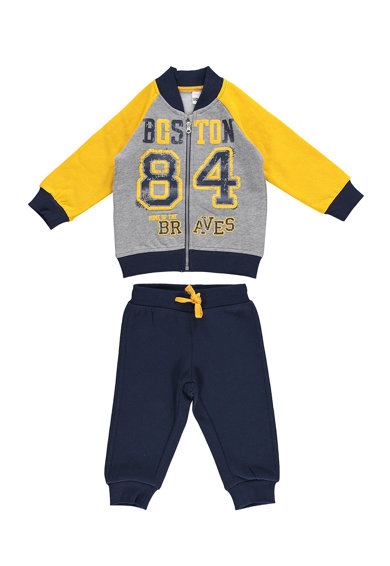 iDO Kids Set de bluza sport cu fermoar si pantaloni sport Baieti