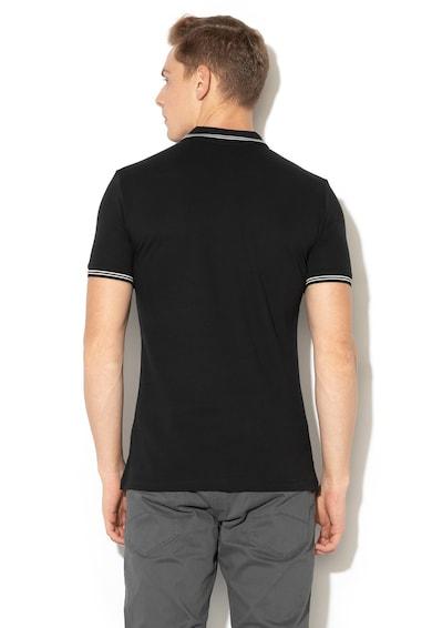 Emporio Armani Тениска от пике с яка и гумирано лого Мъже