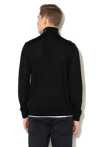 Emporio Armani Пуловер с вълна и поло Мъже