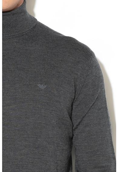 Emporio Armani Пуловер от необработена вълна с поло Мъже