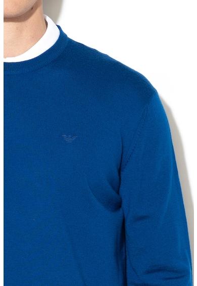 Emporio Armani Kerek nyakú szűzgyapjú pulóver férfi