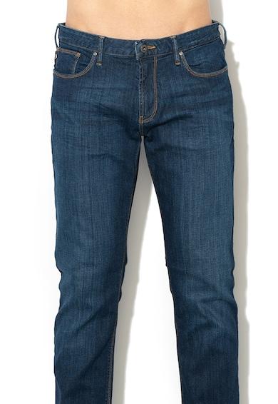 Emporio Armani Прави дънки със захабен ефект Мъже