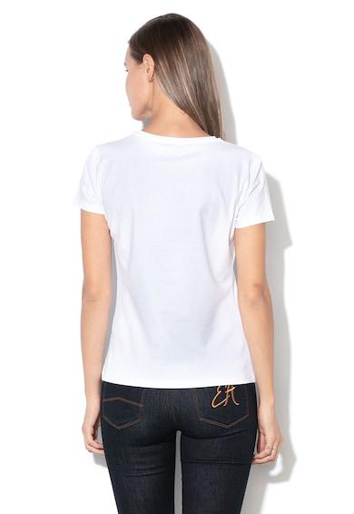 Emporio Armani Szövegmintás póló flitteres rátétekkel női