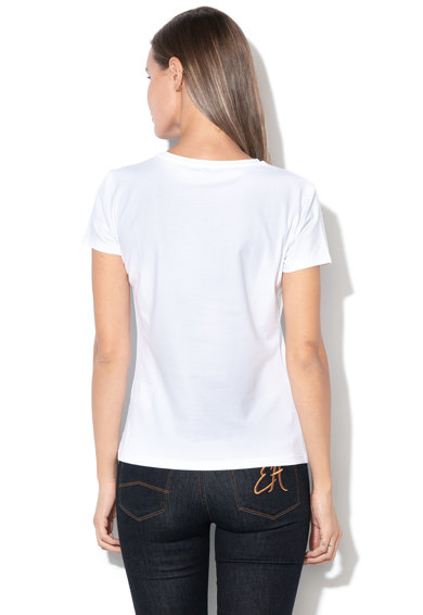 Emporio Armani Тениска с текстова щампа и пайети Жени