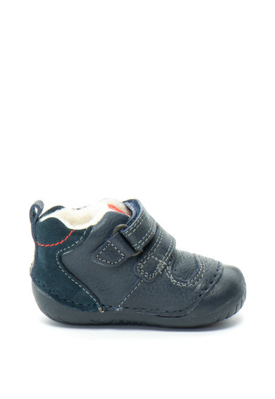 Primigi Pantofi de piele cu garnituri de piele intoarsa si inchidere velcro Baieti
