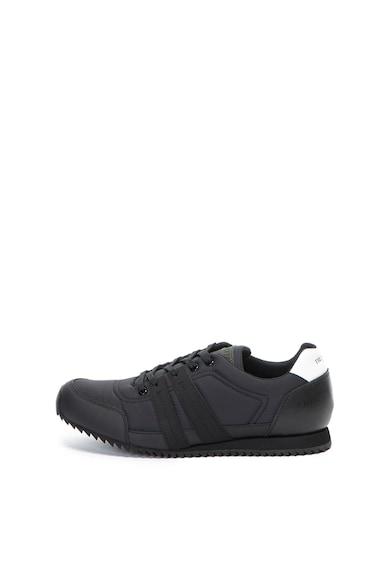 Trussardi Nylon és bőr sneakers cipő férfi