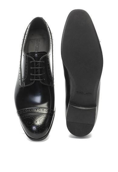 Emporio Armani Klasszikus bőrcipő perforált részletekkel férfi
