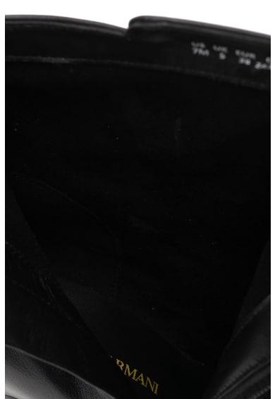 Emporio Armani Vastag sarkú bőrcsizma női