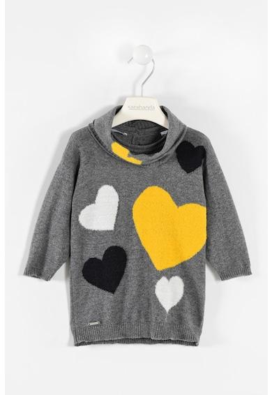 Sarabanda Рокля тип пуловер със сърцевидна шарка Момичета