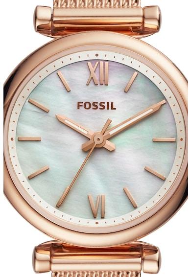 Fossil Carlie rozsdamentes acél karóra és karkötő szett női