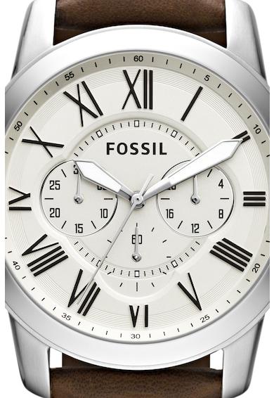 Fossil Часовник Grant с кожена каишка Мъже