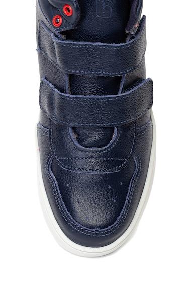 bibi kids Pantofi sport mid-high de piele, cu velcro Baieti