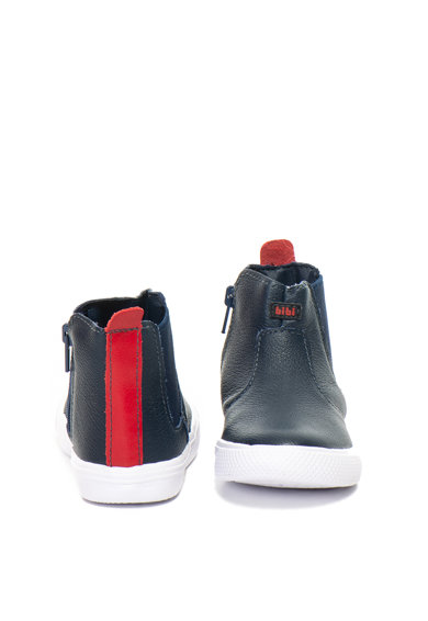 bibi kids Pantofi sport mid-high, de piele cu branturi fisioflex Agility Baieti