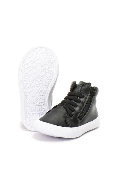 bibi kids Pantofi sport mid-high de piele, cu branturi cu Fisioflex Agility Baieti