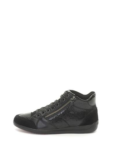 Geox Myria bőr és nyersbőr középmagas szárú sneakers cipő női