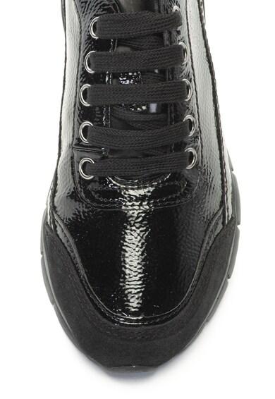 Geox Sukie lakkozott hatású sneakers cipő nyersbőr szegélyekkel női