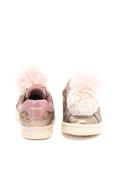 Geox Dj Rock ökobőr sneakers cipő csillámokkal és bojtokkal Lány