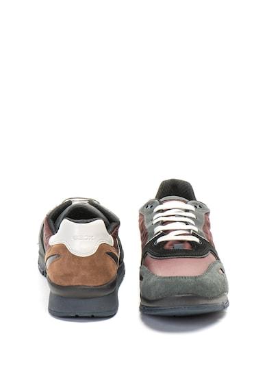 Geox Sandford bőr és nyersbőr sneakers cipő férfi