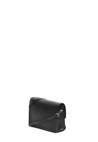 Antonia Moretti Bőr válltáska dekoratív cipzárral női