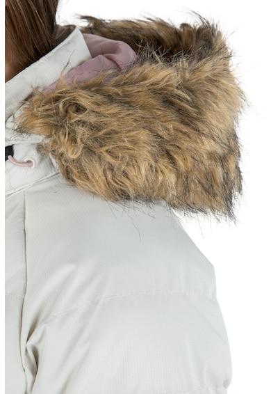 Trespass Geaca impermeabila si rezistenta la vant, cu garnitura de blana sintetica Nadina Femei